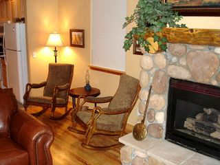 Silverthorne townhome photo - Comfy Rocking Chairs & Gas Fireplace