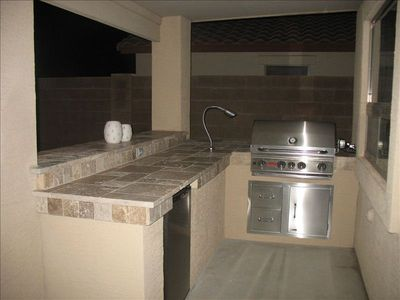 San Tan Valley house rental - Outdoor gas grill and refrigerator.