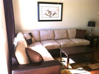 Open living room with comfy sectional