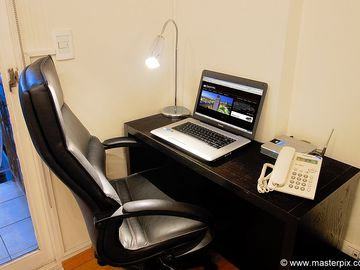 Work desk with Internet or high-speed Wi-Fi access is throughout the apartment.