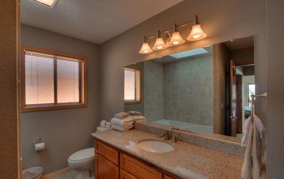 Master Bathroom w Deep Jetted Tub, Separate Shower, and His and Her Sinks