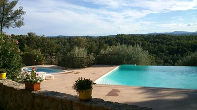 Panoramic view, heated pool 28 ° Mini, wilderness