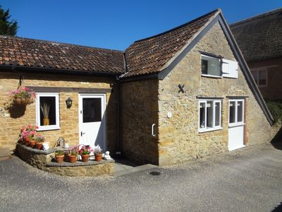 Converted barn restored and appointed to provide a tranquil retreat in Somerset.