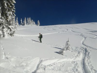 Backcountry skiing nearby