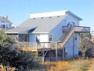 Corolla house photo - Serenity's Haven=Screened Porch and multi-level deck.