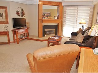 Steamboat Springs condo photo - Living Room with HDTV, DVD, & Fireplace