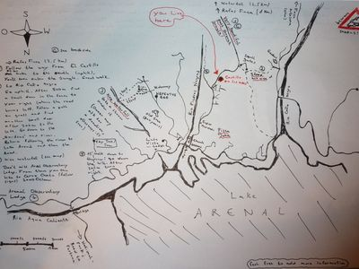 A map of some local hikes, created by one of our guests