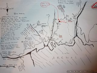 La Fortuna chalet photo - A map of some local hikes, created by one of our guests