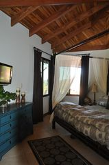 Playa Hermosa house photo - Master bedroom with canopy king and ocean views