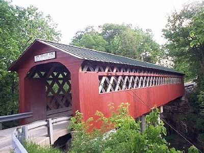 Beautiful covered bridges throughout Vermont