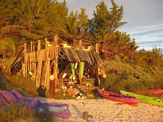 Governor's Harbour estate photo - Beach Hut and kayaks at sunrise