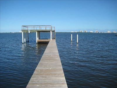 INTRACOASTAL WATERWAY WITH THE DOCK FACING HUTCHINSON ISLAND