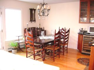 Oak Bluffs house photo - Dining area, open kitchen, dining, living room