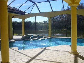 Bonita Springs estate photo - Enjoy the pool and spa while overlooking the lake and preserve