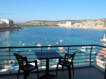 St Paul's Bay apartment rental - Al fresco dining over St. Pauls Bay