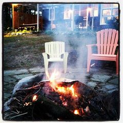Gowen cottage photo - Relaxing at the fire pit!