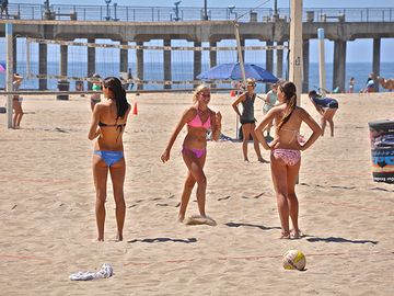 Volley ball court in Newport Beach