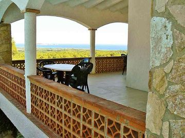 Covered patio. Panoramic sea view