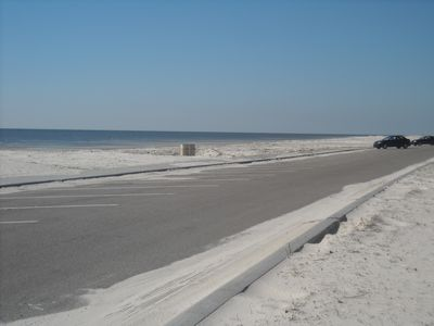 Large parking area for beach access - less than 1/2 mile away from the cottage