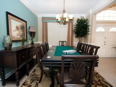 Dining Room doubles as Poker table for entertaining nights after a fun day