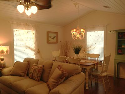 Seagrove Beach cottage rental - 'Tutti~Frutti': Our Cute & Cozy Living & Dining Room!