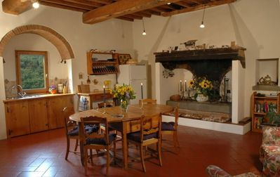 The charming kitchen in La Torre