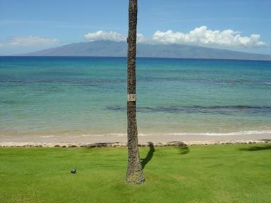 Directly off your lanai is the island of Molokai