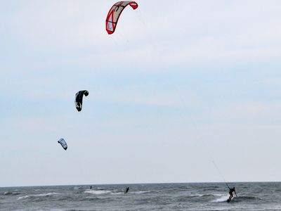 Kite Boarding at Bay Creek Beaches - Lessons Available at Blues in Cape Charles