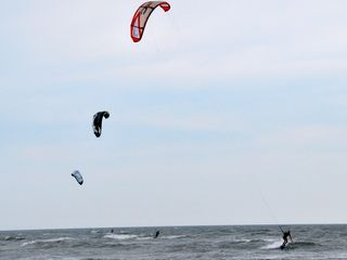 Cape Charles condo photo - Kite Boarding at Bay Creek Beaches - Lessons Available at Blues in Cape Charles