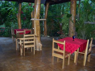 Puerto Viejo bungalow photo - Dining area - daily full hot breakfast, fruits and coffee included