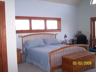 Westport Island house photo - First floor master suite with king temperpedic bed and private deck