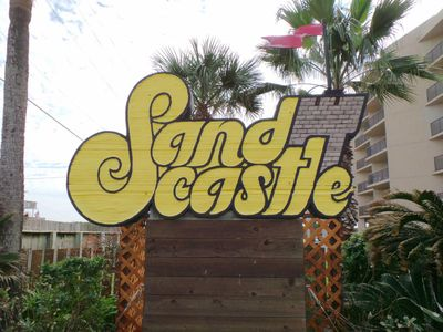 The Sandcastle is located on Sandcastle Drive off of 11th Street.