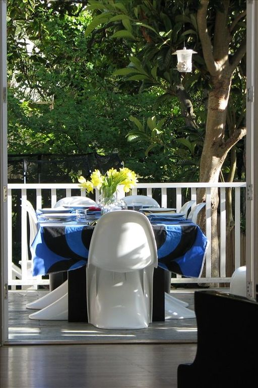 Dining on outside deck