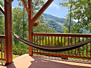 Maggie Valley house photo - Relax on the downstairs deck