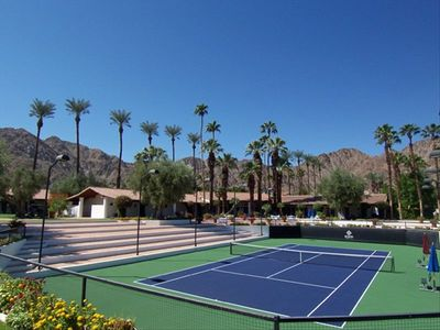One of 23 tennis courts at La Quinta Resort and Spa Tennis Villas