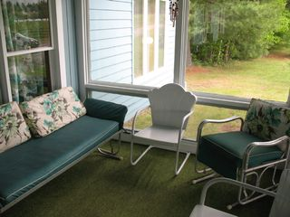 Lake Placid house photo - enclosed porch