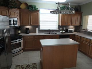 Crystal Beach house photo - Seawatch Spacious Kitchen with all the tools and utensils for a gourmet meal