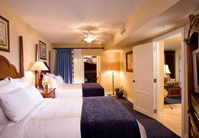 Spacious guest accommodations with two queen beds