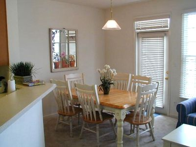 ....and the dining area adjacent to the living area and kitchen.
