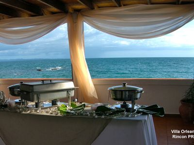 Rincon villa rental - Buffet on the ocean