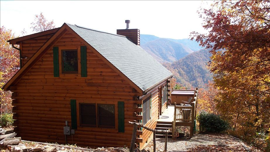 cool log cabin with views 6 seater tub vrbo
