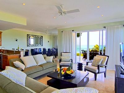 Family Room at Caicos Grande, fully air conditioned, secure, comfortable