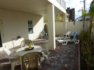 South Padre Island condo photo - Private oversize covered patio with ample seating