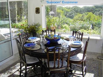 Dining room and veranda overlooking the garden