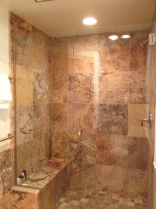 Remodeled master walk in shower.