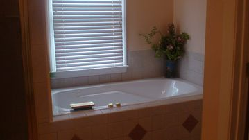 Master Bathroom with jetted tub tile and marble (1 of 4.75)