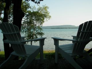 Honor cottage photo - another quiet morning on Platte Lake