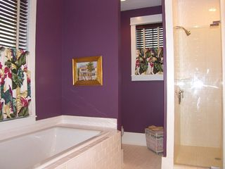 Port St. Joe house photo - Master Bath features large shower and soaking tub. All 4BRs have large bathrooms