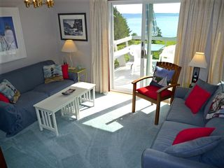 West Tremont cottage photo - Seating Overlooks the Islands of Blue Hill Bay and includes Wi-Fi and Cable TV