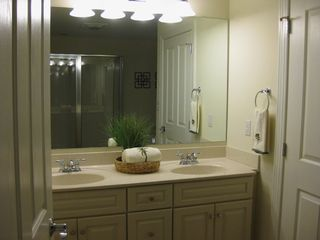 Belmont Towers Ocean City condo photo - Dual Sink Vanity in Master Bath